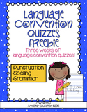 Language Conventions Quizzes Freebie