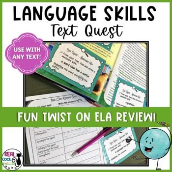 Language Conventions Scavenger Hunt - Language Arts Text Quest
