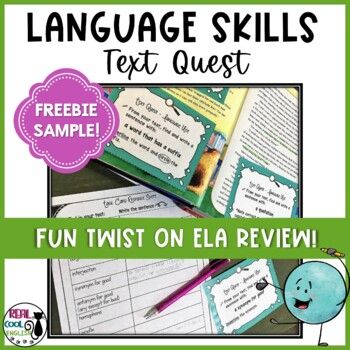 Language Conventions Text Scavenger Hunt (Freebie Sample)