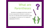 Language Conventions: Using Parentheses PowerPoint