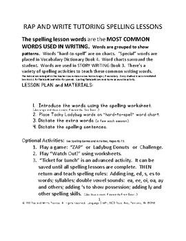 Language craft rap and write tutoring program spelling most common language craft rap and write tutoring program spelling most common writing words ibookread ePUb