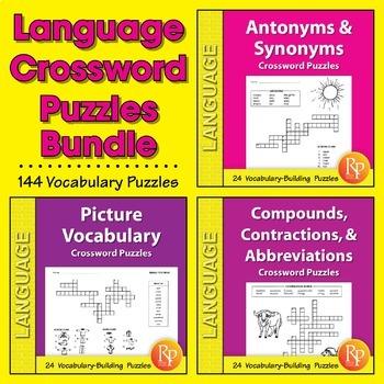 Language Crossword Puzzles {Bundle}