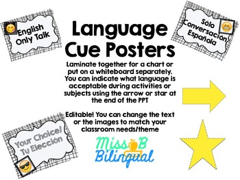 Language Cue Posters