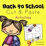 Back to School Cut & Paste printables
