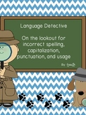 Language Detective: Capitalization, Usage, Punctuation, &