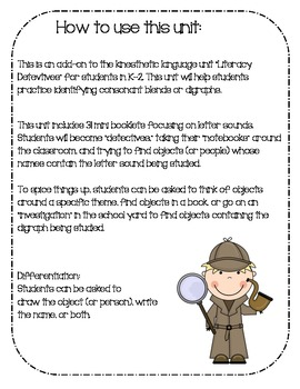 {Language Detectives 2: Add-on!} Consonant Clusters / Digraphs!