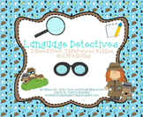 Language Detectives: Cause/Effect, Inferences, Riddles, an