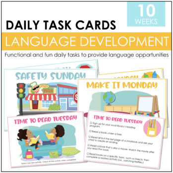 Language Development- Activity Task Cards