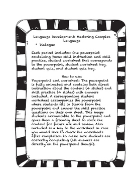 Language Development: Dialogue