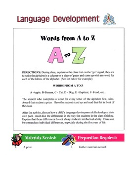 Language Development Lesson