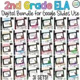 Language Digital Task Cards Mega Bundle for Google Use in 2nd Grade *31 Sets*