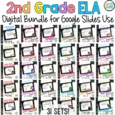 2nd Grade Language Arts and Grammar Bundle for Google Use - Digital Task Cards