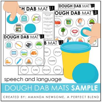 Language Dough Dab Mats