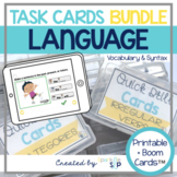 Language BUNDLE Printable Drill Cards and Digital Boom Car