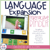 Language Expansion Interactive Binder for WH Questions & S