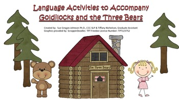 Language Extension Activities for Goldilocks and the Three Bears