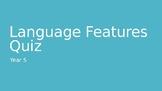 Language Features Quiz
