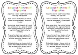 Language Features of Biographies cheat sheet