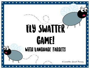 Language Fly Swatter Speech Therapy Game!