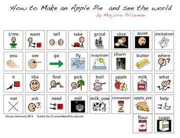 Language Activities for How to Make an Apple Pie and see the world