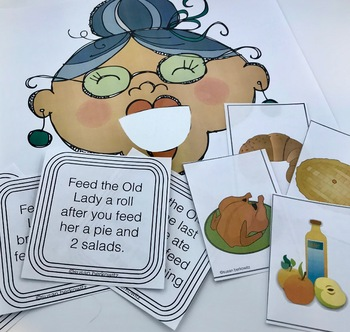 Language Activities for I Know an Old Lady Who Swallowed a Pie