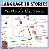 Max and Mo Lets Make a Snowman Book Companion Activities Speech Therapy