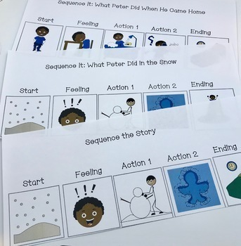 Language Fun with The Snowy Day Autism Differentiated Instruction