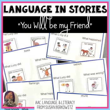 You Will Be My Friend Language Activities for Speech Language Special Education