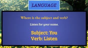 Language - GOOGLE SLIDES
