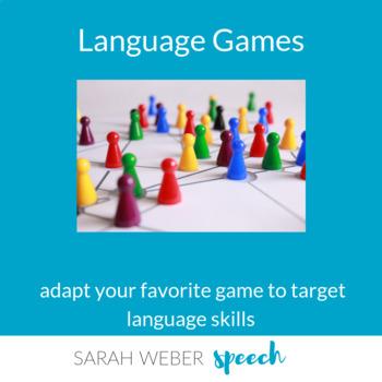 Language Game Cards