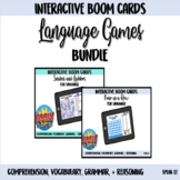 Language Games Interactive Boom Card Bundle with Spinners