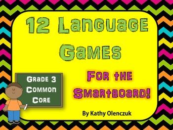 Language Games for the Smartboard -- Grade 3 Common Core
