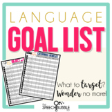 Language Goal Target Lists