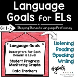 Language Goals for English Learners   Grades 1-2   ESL Goal Setting