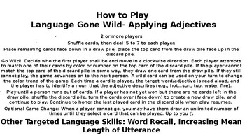 Language Gone WILD: Applying Adjectives; Word Associations and Recall