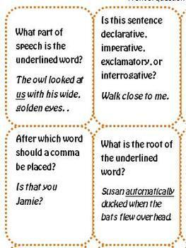 Language / Grammar Review Halloween Board Game