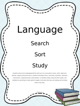Language - Grammar Search Sort Study