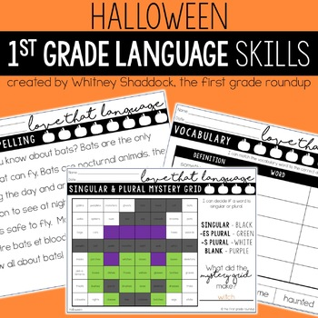 Halloween Language & Grammar Worksheets