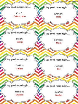 Language Greeting Cards By Tiana Valentin Teachers Pay Teachers