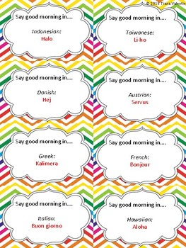 Language Greeting Cards