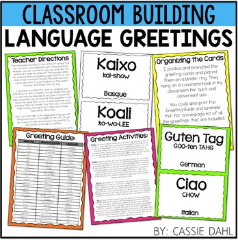 Greeting cards teaching resources teachers pay teachers foreign language greeting cards morning meeting m4hsunfo