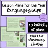 Language Group Lesson Plans for the Year!