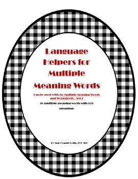 Language Helpers for Multiple Meaning Words Set 2