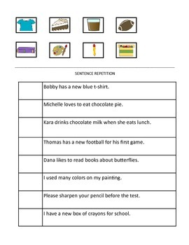Language Helpers for Sentence Completion and Sentence Repetition
