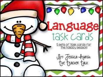 Language Holiday Task Cards