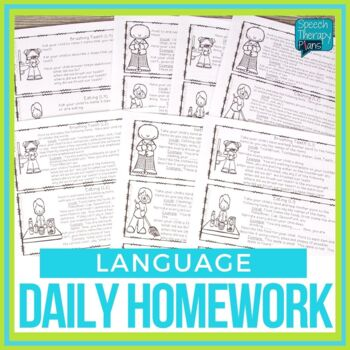 Language Homework for Speech Therapy