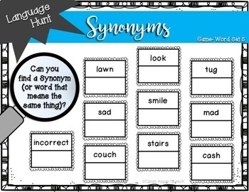 Language Hunt: Synonyms