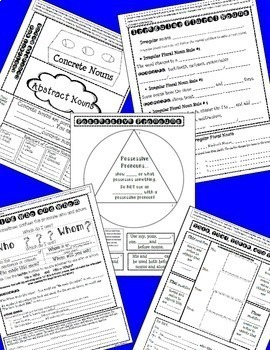 Language Interactive Notebook Bundle- Language Conventions for the Whole Year