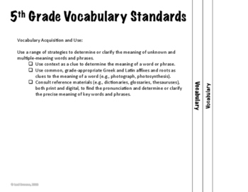 5th Grade Language: Interactive Notebook Divider Tabs