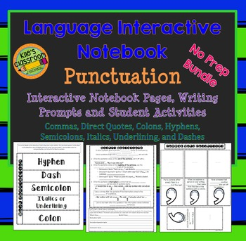 Language Interactive Notebook- Punctuation